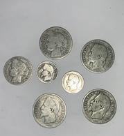 LOT DE 7 PIÈCES EN ARGENT 2 FRANCS 1866/1870/1871,1 FRANC 1887,50 CENTIMES 1866 BB/1865 A - I. 2 Francs