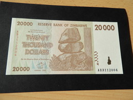 Bank Of Simbabwe  20.000  Dollars 2008 - Simbabwe