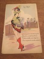 Ancienne Carte Postale Illustrateur W.TIP Erotique Femmes A Plumages - Autres Illustrateurs