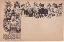 279413Payne's Illustr. Familien-Kalender Und Sechs Illustrirte Humoristische Postkarten Gruss Aus….(sher Kleine Falten - Otros Ilustradores