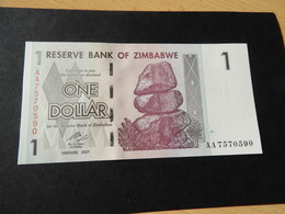 Bank Of Simbabwe  1  Dollars 2007 - Simbabwe