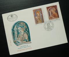 1989 Yugoslavia FDC Serbia Hristovlje Fresco Frescoes Religion Art B32 - FDC