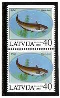 Latvia 2002 . Fish 2002. V: 30.  Pair Of Top/bottom Imperf.   Michel # 574-75 Do/Du - Lettonie