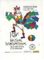 CPM - 95 ENGHIEN-LES-BAINS - Festival De La CP Et Du Graphisme Les 6/7 JUIN 1998 - Création Jean-Marie PETEY -n° 40 / 98 - Petey
