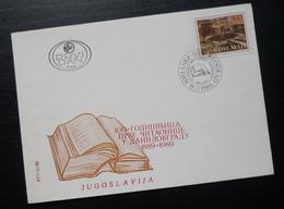 1989 Yugoslavia FDC Serbia First Reading Room Library Danilovgrad B36 - FDC