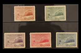 1952  Inauguration Of Dammam-Riyadh Railway Complete Set, SG 372/376, Never Hinged Mint. (5 Stamps) For More Images, Ple - Saudi-Arabien