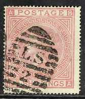 1867  5s Rose, Plate 2, Wmk Maltese Cross, SG 127, Used With Good Colour And Neat Cancel. Tiny Pinhole. Cat £1500 For Mo - 1840-1901 (Viktoria)