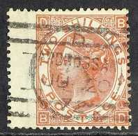 1880  2s Brown FORGERY Lettered 'BD' On Genuine Watermarked Paper With Wing Margin, 'used'. Very Rare For More Images, P - 1840-1901 (Viktoria)