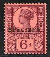 """1887-92  6d Purple And Rose-red With """"SPECIMEN"""" Overprint, SG 208s, Fine Mint. For More Images, Please Visit Http://www. - 1840-1901 (Viktoria)"""