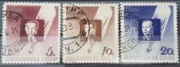 RUSSIE - RUSSIA POSTE AERIENNE N° 46 à 48 COTE 35 € SERIE COMPLETE OBLITEREE BALLON SIRIUS . TB - 1923-1991 UdSSR