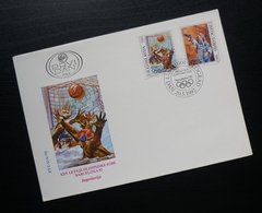 1992 Yugoslavia FDC Serbia Summer Olympic Games Barcelona Spain Sport Waterpolo B46 - FDC