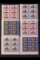 1963 LIFEBOAT CYLINDER BLOCKS SET.  International Lifeboat Conference Ordinary And Phosphor Sets (SG 639/41p) In CYLINDE - 1952-.... (Elisabeth II.)