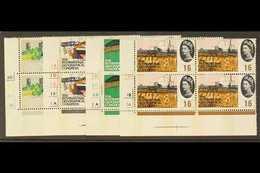 1964  Geographical Congress Complete Phosphor Set In CYLINDER BLOCKS OF FOUR, SG 651p/654p, Superb Never Hinged Mint. (4 - 1952-.... (Elisabeth II.)