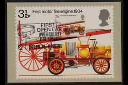 1974  PHQ CARD 3½p Fire Service, Number 6, Handwritten Address, Bearing The Matching 3½p Fire Engine Stamp, SG 950, Affi - 1952-.... (Elisabeth II.)