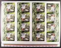 2009 KEW GARDENS - UNCUT MINIATURE SHEETS  SG MS2941 - A Never Hinged Mint Complete Sheet Of 16 Uncut Miniature Sheets,  - 1952-.... (Elisabeth II.)