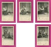 Série-24PH14 Série De 5 Cpa Précurseur, Le Grand Père Et Ses Petits Enfants, Cpa - Fancy Cards