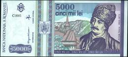 ROMANIA - 5.000 Lei 05.1993 {Prefix #000077} UNC P.104 - Romania