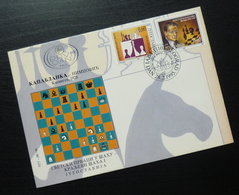 1995 Yugoslavia FDC Serbia World Chess Champions King Of Chess B49 - FDC