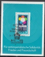 DDR  Block  38, Gestempelt, Weltfestspiele Der Jugend 1973 - DDR