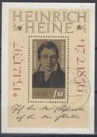 DDR  Block  37, Gestempelt,  Heinrich Heine 1972 - [6] Repubblica Democratica