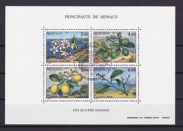 MONACO 1990 FOUR SEASONS VIII (MI BL 49) BLOCK USED/CANCELLED (o) - Monaco