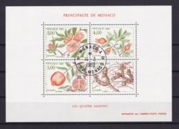 MONACO 1989 FOUR SEASONS VII (MI BL 42) BLOCK USED/CANCELLED (o) - Monaco