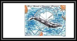 89914e Terres Australes Taaf PA N°139 Rorqual Sanctuaire Baleinier Whale Non Dentelé Imperf ** MNH - Imperforates, Proofs & Errors