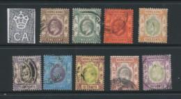 HONG KONG, 1903 To 50c (wmk Single Crown CA) Fine, Cat GBP 101 - Hong Kong (...-1997)
