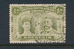 RHODESIA, 1910 Halfpenny Olive-green Fine, SG121 - Rhodésie Du Nord (...-1963)