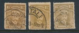 RHODESIA, 1913 1.5d Brown-ochre, Bistre, Drab-brown Fine, SG197-199 - Rhodesia Del Nord (...-1963)