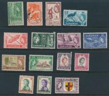 SARAWAK, 1955 Set Fine, Cat GBP 27 - Sarawak (...-1963)