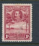 SIERRA LEONE, 1932 1 Shilling Fine, Cat GBP 17 - Sierra Leone (...-1960)