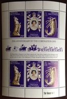Tristan Da Cunha 1978 Coronation Anniversary Minisheet MNH - Tristan Da Cunha