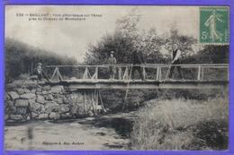 Carte Postale 63. Saillant  Pont Sur L'Anse Près Du Chateau De Montcelard Très Beau Plan - Autres Communes