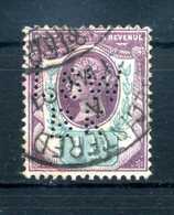 1887 GRAN BRETAGNA N.93 USATO PERFIN - Usados