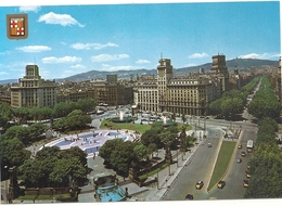 BARCELONA . PLACE DE CATALUNA . PROMENADE DE GRACIA   . CARTE NON ECRITE - Barcelona