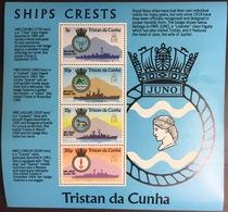 Tristan Da Cunha 1977 Ships Crests Minisheet MNH - Tristan Da Cunha