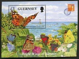 1997 GUERNSEY BLOCS FEUILLETS BF N° 36 ** MNH. Papillons / Butterfly - Guernsey