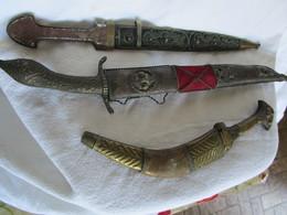 3 Couteaux Décorations - Armas Blancas