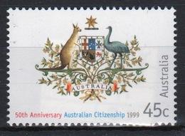 Australia 1999 A Single Stamp To Celebrate The 50th Anniversary Of Australian Citizenship. - Usados
