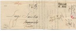 DA INNSBRUCK A ROVERETO - RISPEDITA A TRENTO - 2.5.1842. - ...-1850 Préphilatélie