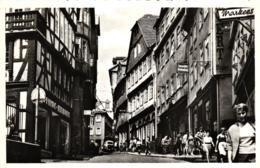 Marburg, Strassenansicht, Geschäfte, Ca. 50er Jahre - Marburg