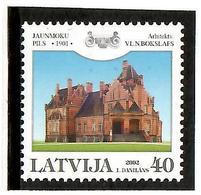 Latvia 2002 .  Jaunmoku Palace. 1v: 40.    Michel # 577 - Lettonie