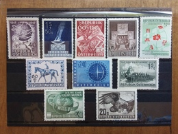 AUSTRIA- Lotticino Anni '50 - 10 Francobolli Differenti Nuovi ** + Spese Postali - 1945-.... 2de Republiek