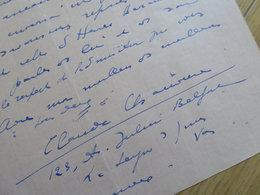 Claude CHAUVIERE (1885-1939) Secrétaire COLETTE. [ Bresil Brasil ] Romancière. AUTOGRAPHE à Henri Béraud - Autografi