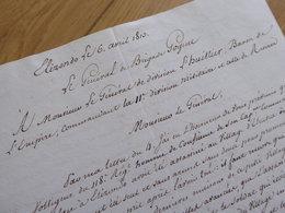 General GOGUET (1813) ESPAGNE Spana ELIZONDO Elbete Elvetea EMPIRE Napoleon. AUTOGRAPHE - Autographs
