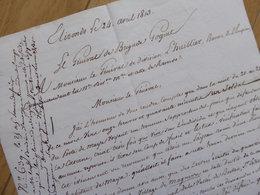 General GOGUET (1813) Spana ELIZONDO Lesaca Ainhoa EMPIRE Napoleon. AUTOGRAPHE - Autographs