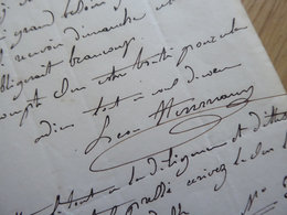 Léonard HERMANN LEON (1814-1858) BARYTON Opera & PEINTRE Paysagiste - AUTOGRAPHE - Autographes