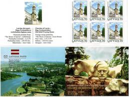 Latvia 2002 . Helsinki 2002. Church:70. Booklet Of 6.Top/bot Imp.   Michel # 578D   MH - Lettonie
