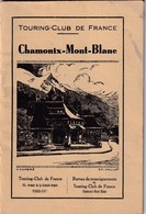 Chamonix-Mont-Blanc, Touring Club De France  1933 - Tourisme